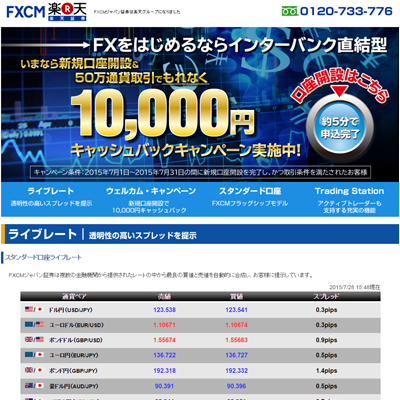 FXCMジャパン証券(プレミアム口座)